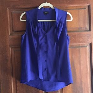 Royal blue/purple sleeveless button down- Target